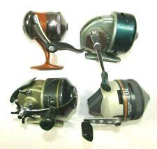 4 Vintage Fishing Reels Zebco 202 & Crappie, Shakespeare 1700, Heddon 180