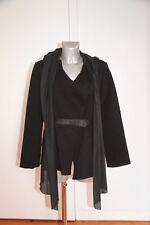 manteau chale laine bouillie noire COP COPINE écusson T 42  QUASI NEUF val 199€