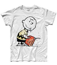 T-shirt uomo BANKSY Charlie Brown Piromane Penauts Snoopy Woodstock street art