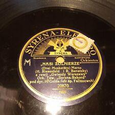 """78 RPM 10"""" Polish Syrena Electro 6499 Faliszewski, Gold"""