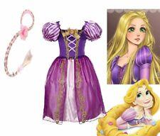 Halloween Kids Girls Rapunzel Princess Fancy Dress Cosplay Costume Outfit Prom
