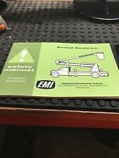 AERIAL DEVICES ARTICULATED-BOOM & EXTENDIBLE BOOM SAFETY MANUAL AD9-98