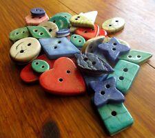 Lot 36 boutons ceramique raku couture rare lot raku buttons