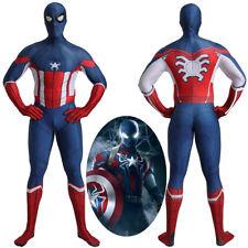 Captain America Spider-Man Crossover Bodysuit Cosplay Costume