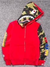 6da207b7afa9 Bape Bathing ape Jacket SHARK Head Camo FULL ZIP HOODIE Long Sleeve jackts
