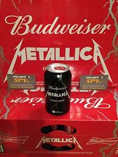 Budweiser Promotional Beer METALLICA Empty Collector Can Limited Edition Quebec