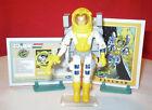 1989 GI JOE PAYLOAD DEFIANT & CRUSADER SPACE SHUTTLE PILOT ASTRONAUT ARAH + CARD