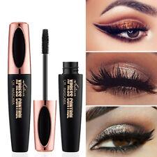 HOT 4D Silk Fiber Eyelash Mascara Extension Makeup Black Waterproof Eye Lashes