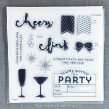 New Year's Cheer S1611 CTMH Close to my Heart Acrylic Stamps Party Invitation