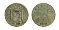 s289_22) SPAGNA SPAIN 2 PESETAS  1870