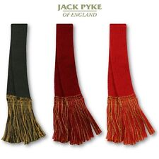 JACK PYKE GARTERS SHOOTING SOCK WOOL HUNTING TASSLES SELF TIE GREEN RED BURGUNDY