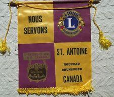 LIONS BANNER    ST. ANTOINE-DE-KENT   NOUVEAU BRUNSWICK  CANADA