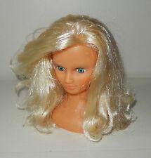 Ancienne et rare petite tête à Coiffer maquiller poupée CLODREY Vintage 16 cm