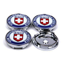 4pcs 63mm Car Wheel Center Hub Caps Rim Cover Flat HRE Performance Emblem Badge
