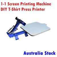 AU 1 Color 1 Station T-Shirt Screen Printing Machine DIY Press Printer Equipment
