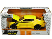 1/24 Jada BIGTIME MUSCLE 2016 Chevrolet Camaro WideBody Diecast Yellow 31064