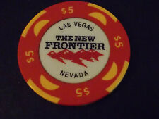 THE NEW FRONTIER HOTEL CASINO $5 hotel gaming poker chip ~ Las Vegas, NV