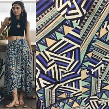 Geometric Printed DIY Fabric Material Synthetic Opacity Dress Skirt Craft Ethnic