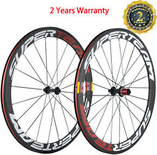 Superteam 50mm Clincher Carbon Wheels Bicycle Touring Carbon Wheelset 700C Wheel