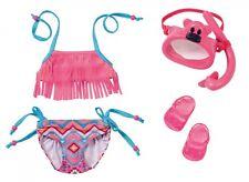 BABY BORN Schwimm deluxe Set Bikini Badeschuhe Schnorchel Taucherbrille f. Puppe