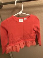 Koala Kids 18 Months Baby Girl Long Sleeve Top Sweater Coral