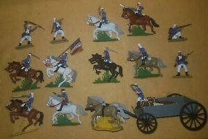 LARGE SET wagon FRENCH FOREIGN LEGION light blue Argentina Soldiers Britains