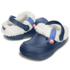 Blitzen II Navy/Oatmeal  With Removable Liner  Crocs Boys Size  12/13