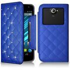 Etui Universel L Style Diamant bleu pour Sony Xperia XA