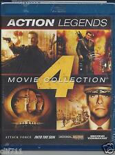 Action Legends: 4 Movie Collection Attack Force / Into the Sun ++ NEW Blu-ray