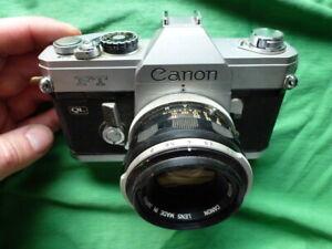 Canon FT QL mit Objektiv antike vintage Kamera Fotoapparat aus Sammler Nachlass