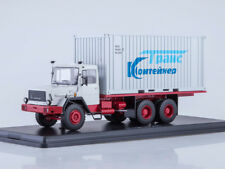 Scale model truck 1/43 Magirus-290D container