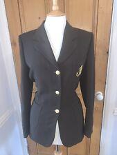 BURBERRY PRORSUM Vintage Brown Blazer Jacket Gold Monogram Buttons UK 12 14