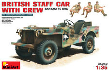 Miniart 35050 1:35th escala británico Bantam 40 BTC Jeep con tripulación