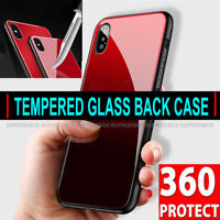 360 Case For iPhone XR XS Max X  Ultra Slim Shockproof Hard GLASS TPU Back Cover