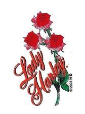 Aufkleber Harley Davidson Rosen 7x5 cm Lady Roses Decal Helm Auto Motorrad HD
