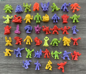 Vintage Matchbox 1990 MONSTER IN MY POCKET Series 1 Set of 44 Mixed Colors!