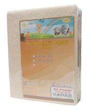 Frottee Spannbettlaken Baby Spannbetttuch 70x140 Niuxen Design NEU Beige