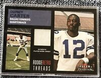 2001 Fleer Tradition Rookie Retro Threads COWBOYS Quincy Carter JERSEY