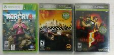 Lot of 3 xbox 360 games - FarCry 4 (new), Resident Evil(new), NFS Undercover