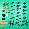 Modern weapon set rifle sniper armor tactical gear +Lego & custom minifigure UK