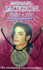 MICHAEL JACKSON FINGERPRINT & AUTOGRAMM NECKLACE PENDANT**NEU!!!**
