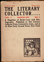 The Literary Collector Gutenberg Rowfant Club of Cleveland March 1903