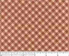 Quilter Cotton Flannel Fabric Diamond Plaid Coral Tan Faye Burgos Marcus Fabrics