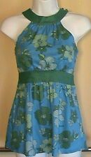 NWT $35 GUESS Jeans Women's Floral Sleeveless Tunic Top Blouse Size: XS