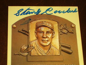 Stanley Coveleski Cleveland Indians Signed autographed Yellow HOF Plaque