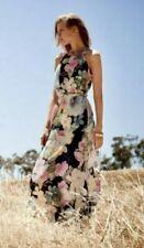 Monsoon Blue Floral Maxi Jersey Dress UK14 Camilla Summer Holiday