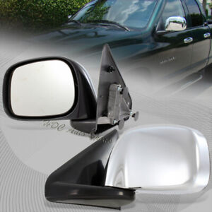 For 2002-2008 Dodge Ram Truck 1500/2500/3500 Manual Chrome Coated Side Mirrors