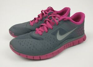 Nike Free 4.0 V2 Grey & Pink Women's Trainers Size UK 5.5 Style - 511527-006