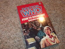DOCTOR WHO FOUR TO DOOMSDAY UK vintage paperback book Target near mint NOS