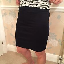 Skirt Pencil Black Above Knee Small Size 8